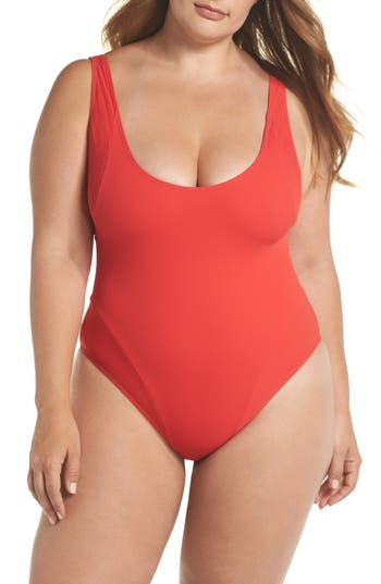 Chromat RIBBED ONE-PIECE SWIMSUIT