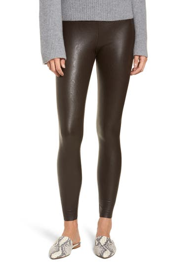 Commando Control Faux Leather Leggings, Brown