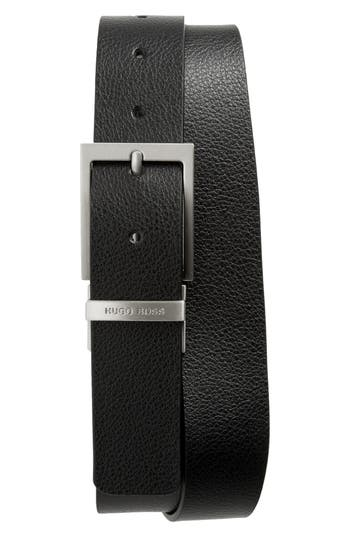 Boss Hugo Boss Reming Reversible Leather Belt, Black/ Brown