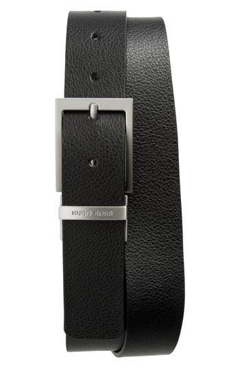 Boss Reming Reversible Leather Belt, Black/ Brown