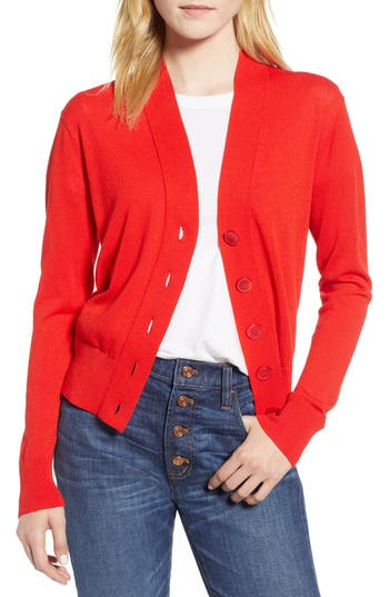 J.crew LIGHTWEIGHT CROP CARDIGAN