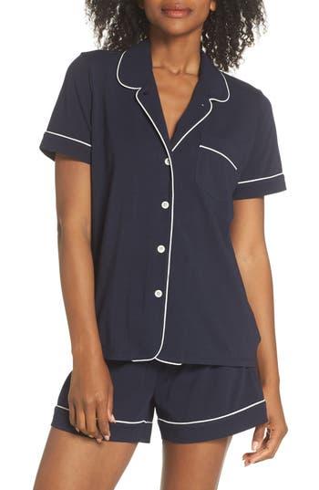 J.crew Short Sleeve Knit Pajamas, Blue