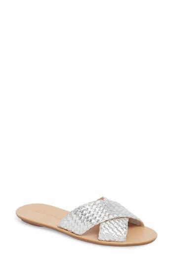 Women's Loeffler Randall Claudie Slide Sandal, Size 9 - Metallic
