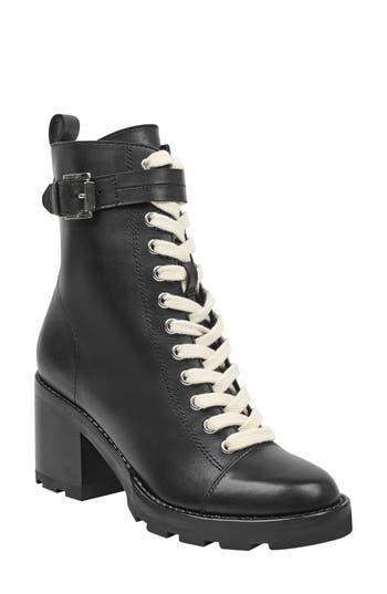 Marc Fisher Ltd Waren Combat Boot- Black
