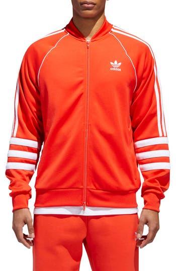Adidas Originals Authentics Windbreaker Track Jacket, Red