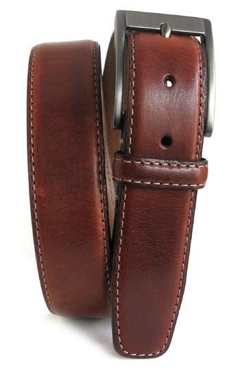 Boconi Collins Leather Belt, Cognac