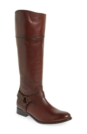 Frye Melissa Knee High Boot Ext Calf- Brown