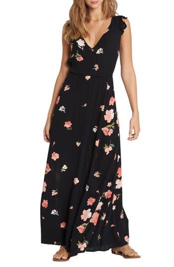 Billabong Wind Flutter Maxi Dress, Black