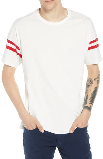 French Connection 24S Tipping Stripe Regular Fit T-Shirt, White