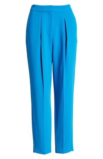 Topshop Clara Peg Belted Trousers, US (fits like 0) - Blue