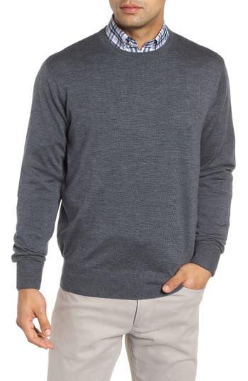Peter Millar Crown Wool & Silk Sweater, Grey