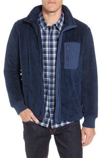Ugg Lucas High Pile Fleece Sweater Jacket, Blue