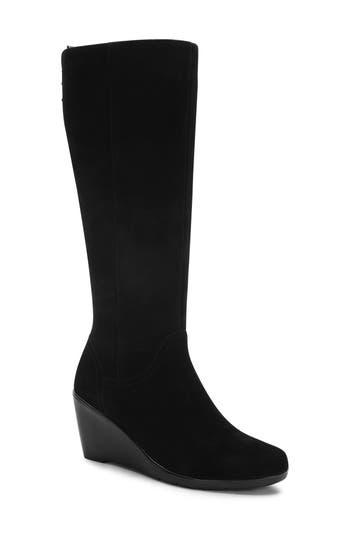 Blondo Larissa Waterproof Wedge Knee High Boot- Black
