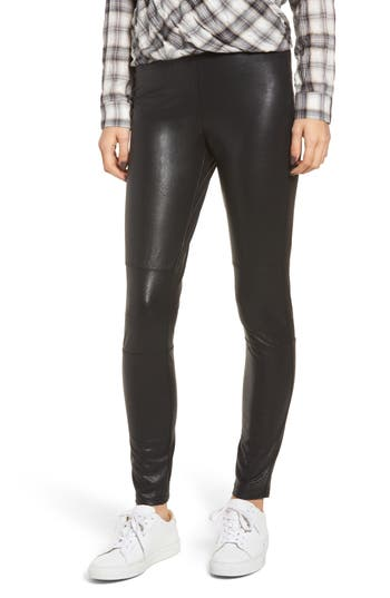 Splendid Faux Leather Leggings, Black