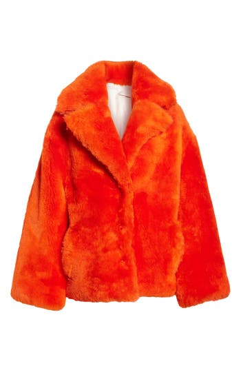 Anne Vest Sirid Genuine Shearling Jacket, 4 DE - Orange