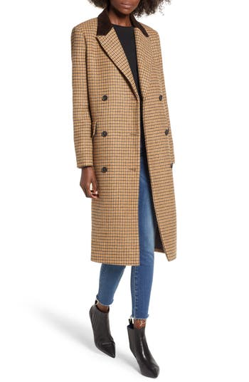 Vintage Coats & Jackets | Retro Coats and Jackets Womens Moon River Houndstooth Double Breasted Coat $175.00 AT vintagedancer.com