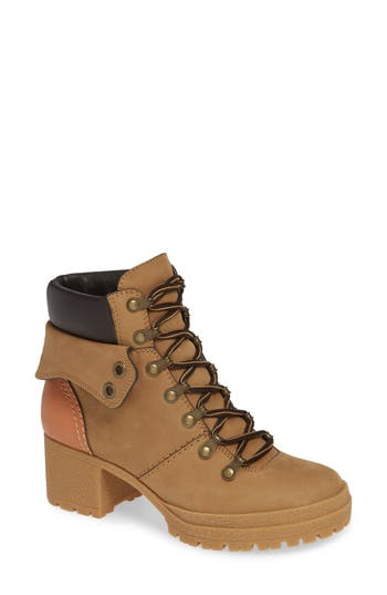 See By Chloe Eileen Lace-Up Boot, Beige