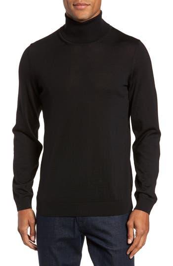 Hugo Musso Slim Fit Wool Turtleneck Sweater, Black