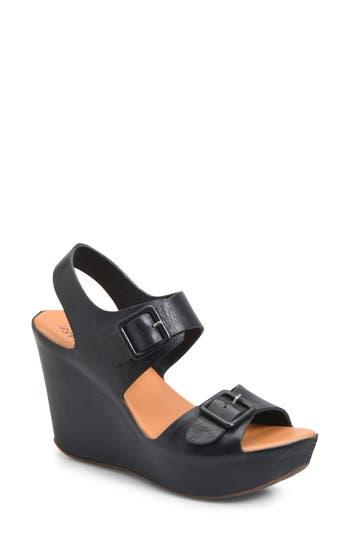 Kork-Ease Susie Wedge Sandal, Black