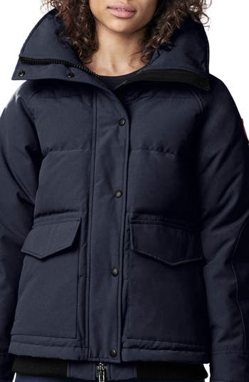Canada Goose Deep Cove Arctic Tech Water Resistant 625 Fill Power Down Bomber Jacket, Blue