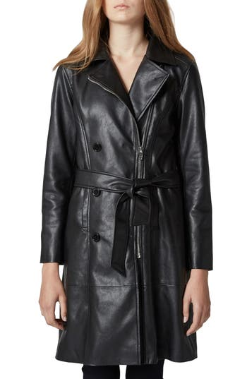 Vintage Coats & Jackets | Retro Coats and Jackets Womens Blanknyc Faux Leather Trench Coat $158.00 AT vintagedancer.com