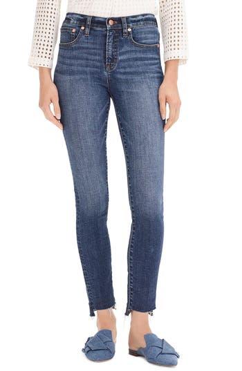 9-Inch Toothpick High Waist Step Hem Jeans, Vintage Indigo