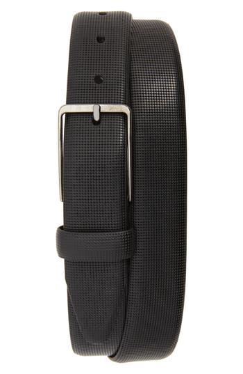 Johnston & Murphy Mini Embossed Leather Belt, Black