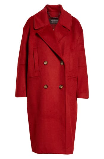 Vintage Coats & Jackets | Retro Coats and Jackets Womens Badgley Mischka Cameron Double Breasted Wool Coat Size X-Large - Red $329.00 AT vintagedancer.com
