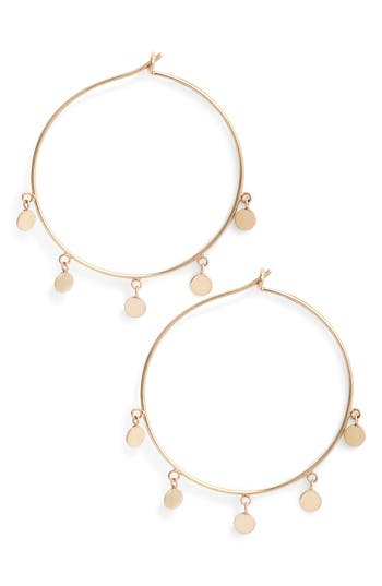 Zoe Chicco Disc Hoop Earrings
