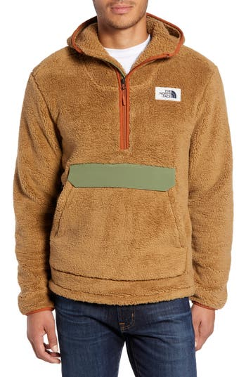 The North Face Campshire Anorak Fleece Jacket, Brown