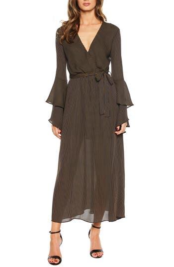 Loretta Ruffle Sleeve Maxi Dress, Nb Stripe