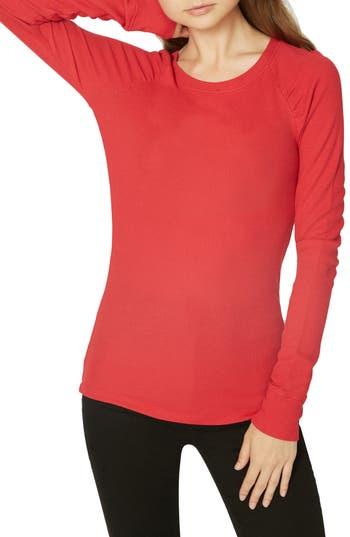 Kenzie Thermal Pullover, Cherrywine