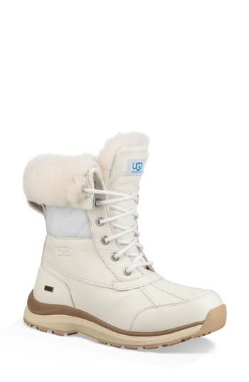 Ugg Adirondack Iii Waterproof Insulated Winter Bootie, White