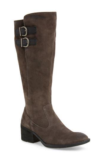 B?rn Basil Knee High Boot, Wide Calf- Grey