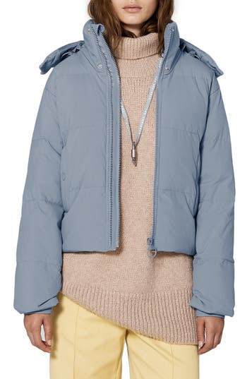 The Arrivals Crop Performance Down Puffer Jacket, Blue