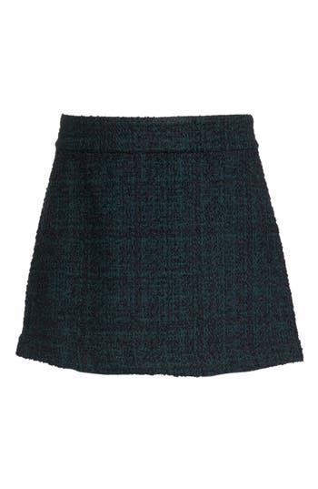 Plus Size Leith Tweed Miniskirt, Grey
