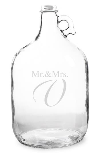 Cathy's Concepts 'Mr. & Mrs. - Wedding Wishes In A Bottle' Gallon Growler Guest Book, Size One Size - White
