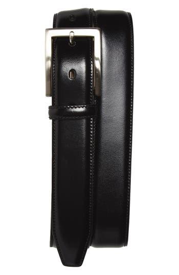 Big & Tall Johnston & Murphy Calfskin Belt, Black