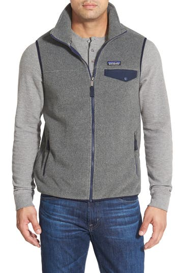 Men's Patagonia Synchilla Snap-T Zip Fleece Vest, Size XX-Large - Grey