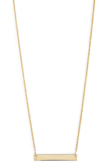 Women's Bony Levy 14K Gold Bar Pendant Necklace (Nordstrom Exclusive)