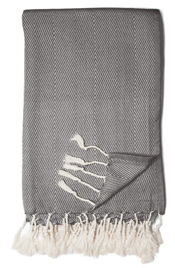 Zestt Organic Cotton Throw, Size One Size - Black