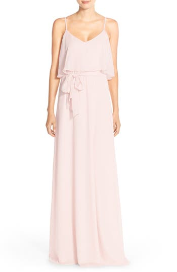 Women's Ceremony By Joanna August 'Dani' Popover Bodice Chiffon Maxi Dress