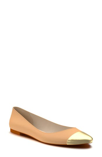 Women's Shoes Of Prey Cap Toe Ballet Flat