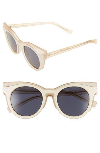 Unique Retro Vintage Style Sunglasses & Eyeglasses Womens Le Specs Edition Three 51Mm Cat Eye Sunglasses - Matte Blush Amber Tort $125.00 AT vintagedancer.com