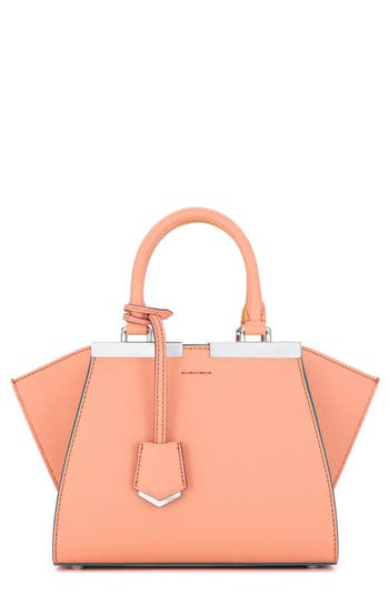 Fendi 'Mini 3Jours' Calfskin Leather Shopper - Pink