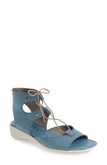 Women's The Flexx Lace-Up Gladiator Sandal, Size 8.5 M - Blue/green