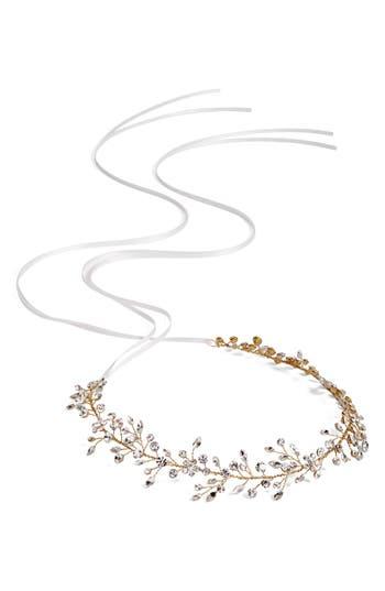 Brides & Hairpins Bianca Crystal Halo & Sash, Size One Size - Metallic