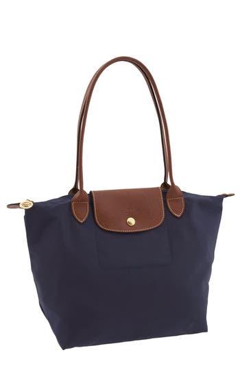 Longchamp 'Small Le Pliage' Shoulder Tote - Blue