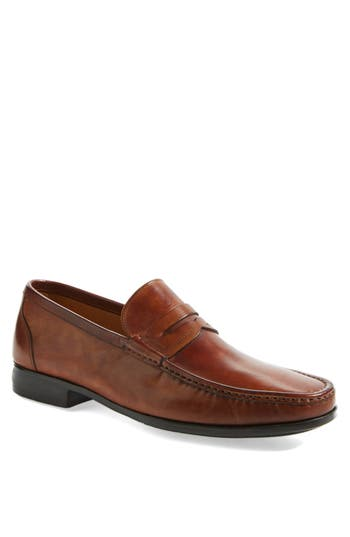 Mens Vintage Style Shoes| Retro Classic Shoes Mens Magnanni Ares Penny Loafer Size 7 M - Brown $325.00 AT vintagedancer.com
