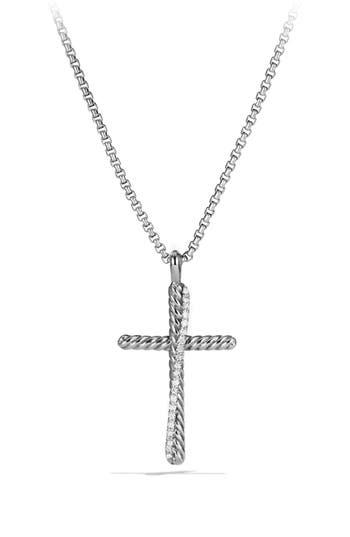 Women's David Yurman 'Crossover' Cross Necklace
